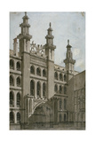 South-West View of the Guildhall Front  City of London  1810