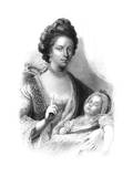 Queen Charlotte (1744-181) with the Future King George IV (1762-183)  19th Century