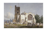 Church of St Mary at Lambeth  London  C1810