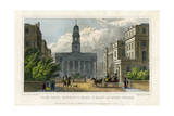 York Gate  Regent's Park  and Mary-Le-Bone Church  London  1827