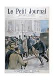 Émile Zola Affair  Being Taken to the Palais De Justice  Paris  1898