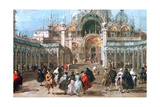 The Feast of Ascension in the Piazza San Marco  C1775