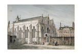 View of Temple Church  City of London  1811
