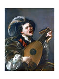 A Man Playing a Lute  1624