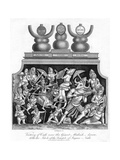 Victory of Cali over the Giant Mahish A'Sura  with the Idols of the Temple of Jagannath  1809