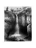 Fall of the River  Tondano  Indonesia  19th Century