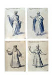 Costume Design for Classical Figures  16th Century