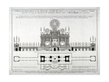Plan and Elevation of the Royal Fireworks to Be Performed in St James's Park  London  1749