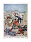 Death of Lieutenant Collet  Algeria  1896