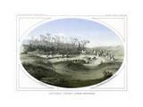 Camp Stevens  Looking Westward  Montana  USA  1856