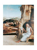 St Jerome Reading in a Landscape  C1450-1516