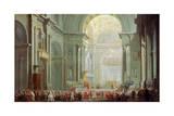 Interior of the Basilica of Saint Peter in Rome  18th Century