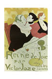 Poster to the Book Reine De Joie by Victor Joze  1892