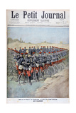 French Army Bicycle Corps in a Square on Manoeuvres  France  1897