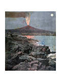 The Eruption of Etna  Sicily  1892