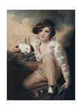 Boy with Rabbit  C1814