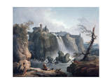 The Waterfall at Tivoli  18Th/Early 19th Century