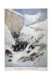 Avalanche at Mont Saint-Bernard  Switzerland  1897