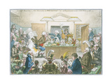 Chemical Lecture, 1802 Giclée par James Gillray