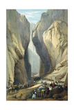 British Army Entering the Bolan Pass from Dadur  First Anglo-Afghan War  1838-1842