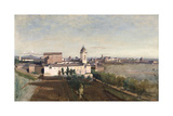 Trinita Dei Monti from the Villa Medici  C1830-1834