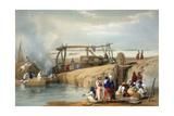 Persian Wheel Raising Water from the Sutlej River  Punjab  1842