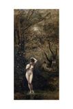 Diana Bathing, 1873-1874 Giclée par Jean-Baptiste-Camille Corot
