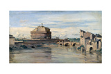 Castel Sant' Angelo and the River Tiber  Rome  C1816-1875