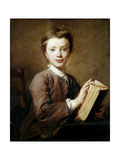 A Boy with a Book  C1740