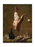 Still Life with a Leg of Veal  French Painting of 18th Century