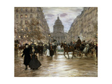 Boulevard Saint-Michel  Late 19th or Early 20th Century
