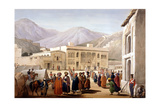 Shah Shoja  Puppet of the British  Holding a Durbar at Kabul  First Anglo-Afghan War  1838-1842
