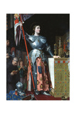 Joan of Arc at the Coronation of Charles VII in the Cathedral at Reims  1429