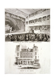 Interior and Exterior Views of the Haymarket Theatre  Westminster  London  1815