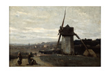 A Windmill  Etretat  19th Century