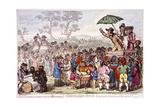 Election Fair  Copenhagen Fields  Islington  London  1795