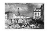 The Ponte Santa Trinita  Florence  Italy  19th Century