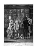 Miss Macaroni and Her Gallant at a Print Shop  1773