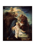 The Holy Family (Rest on the Flight into Egyp)  1719