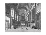 Interior View of St Paul's Cathedral  City of London  C1720