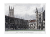 The Cloister  Magdalen College  Oxford University  19th Century