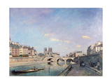 The Seine and Notre-Dame in Paris  1864