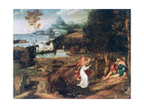 Landscape Scene with Saint Roch  C1500-1524