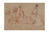 Studies of a Flute-Player and Two Women  1717