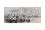 Mounted Escort at St James's Palace  London  1848