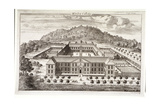Bird's-Eye View of Morden College  Greenwich  London  C1710