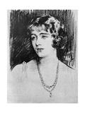Study of Lady Elizabeth Bowes-Lyon  1923