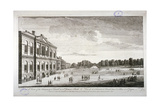 The Treasury and the Canal in St James's Park  Westminster  London  1755