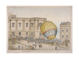 Hot Air Balloon in the Courtyard of Burlington House  Piccadilly  Westminster  London  1814