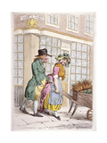 A Leering Man Making Advances to a Girl  New Bond Street  Westminster  London  1796